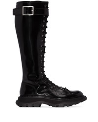 Alexander McQueen Lace Up Leather Boots