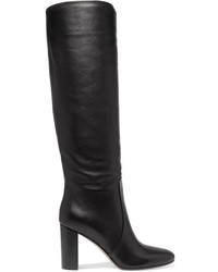 Gianvito Rossi Leather Knee Boots Black