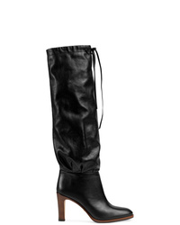 Gucci Leather Mid Heel Boot