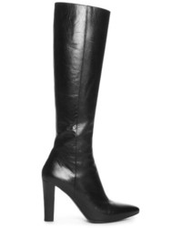 Lily cone heeled leather knee high boots medium 719795