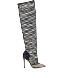 Gianvito Rossi Mesh Knee Length Boots