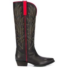 Semicouture Stitch Detail Knee High Boots