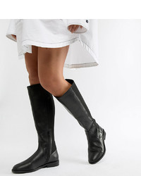 ASOS DESIGN Wide Fit Extra Wide Leg Cadence Leather Riding Boots Leather
