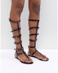 ASOS DESIGN Flexi Jelly Gladiator Flat Sandals
