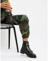 ASOS DESIGN Arya Leather Hiker Ankle Boots Leather