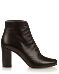 Saint Laurent Babies Lace Up Leather Ankle Boots