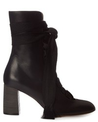 Chlo harper lace up leather ankle boots medium 790928