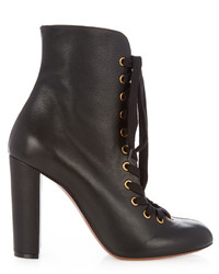 Chlo miles lace up leather ankle boots medium 1156508