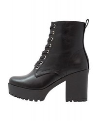 Even&Odd High Heeled Ankle Boots Black