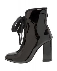 Glamorous Lace Up Boots Black