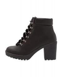 Dorothy Perkins Minstrel Lace Up Boots Black