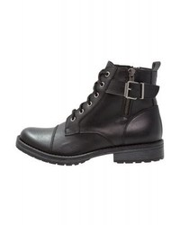 Steve Madden Mira Lace Up Boots Black