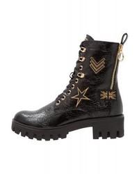 Tamaris Platform Boots Black Crack