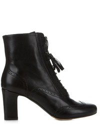 Tabitha Simmons Afton Block Heel Leather Ankle Boots