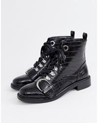 Faith Bertie Lace Up Flat Boot