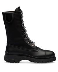 Prada Bi Material Lace Up Boots