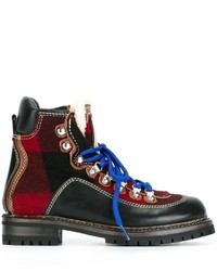 Dsquared2 Checked Ankle Boots