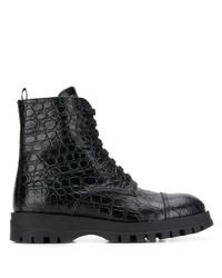 Prada Circle Embossed Ankle Boots
