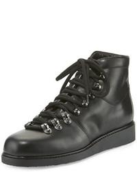 Alberto Fermani Felisa Lace Up Leather Combat Boot Black