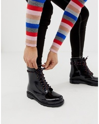 ASOS DESIGN Global Hiker Lace Up Rain Boots