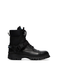 Prada Lace Up Combat Boots