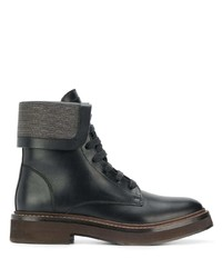 Brunello Cucinelli Lace Up Front Boots