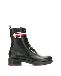 Tommy Hilfiger Leather Military Boots