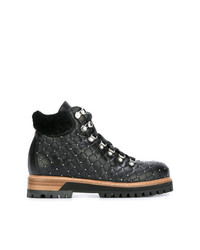 Le Silla Quilted Lace Up Ankle Boots