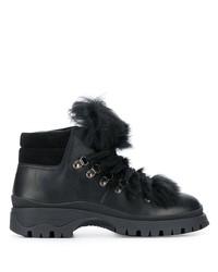 Prada Shearling Trim Boots