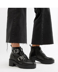 ASOS DESIGN Wide Fit Rouge Chunky Lace Up Boots