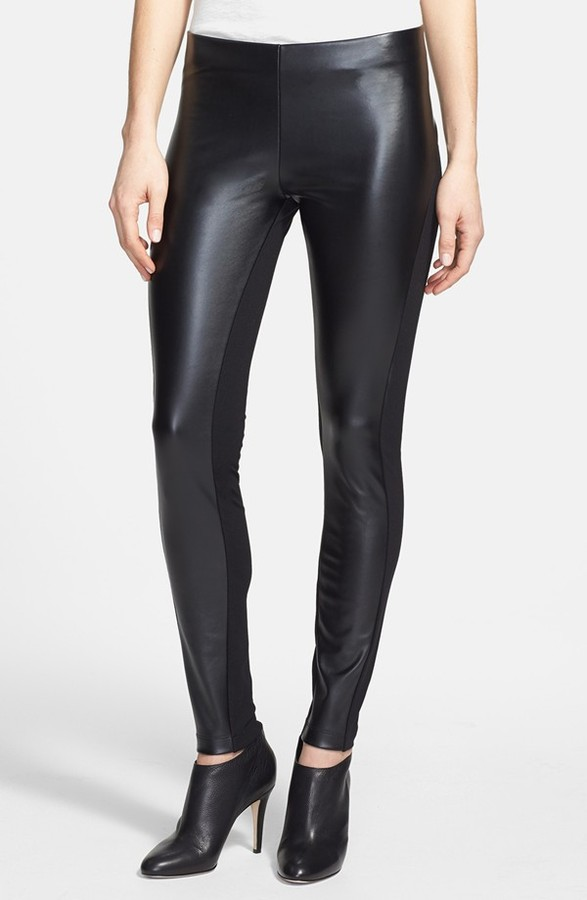 6418d42f16829 DKNY C Faux Leather Front Leggings, £63   Nordstrom   Lookastic UK