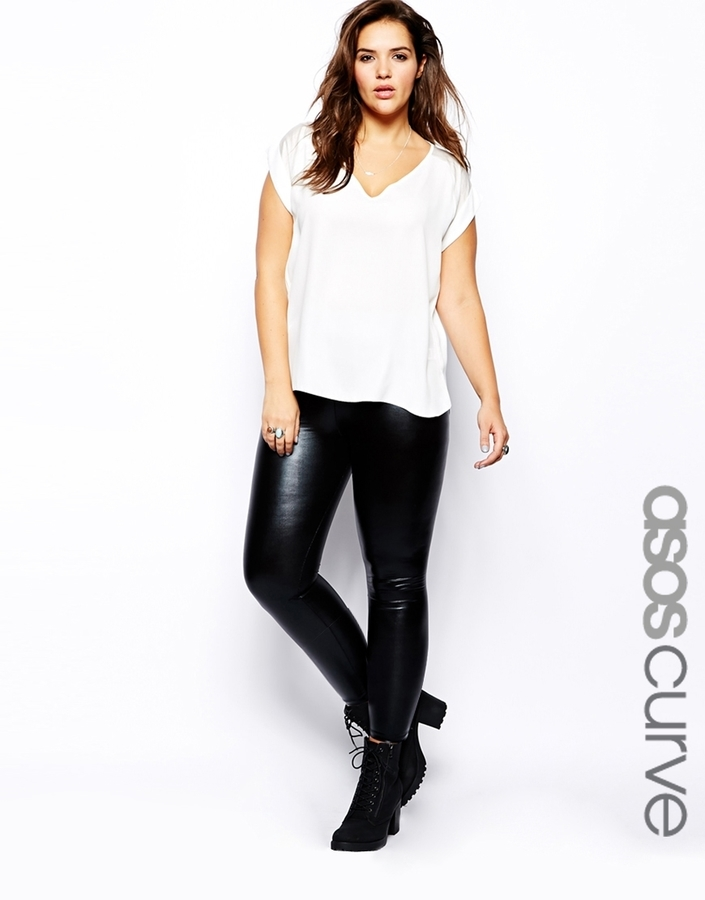 new cheap new arrival high quality materials £20, Asos Curve Leggings In Wet Look