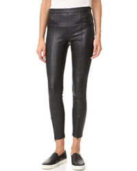 David Lerner Vegan Leather Front Zip Leggings