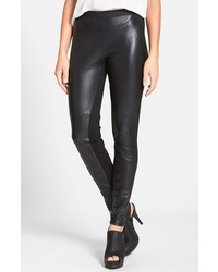 Eileen Fisher The Fisher Project Leather Front Leggings