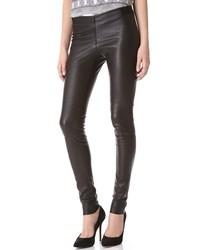 Alice + Olivia Zip Front Leather Leggings