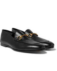 Gucci Brixton Horsebit Collapsible Heel Leather Loafers