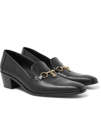 Needles Embellished Leather Loafers