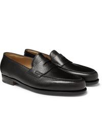 John Lobb Lopez Full Grain Leather Penny Loafers