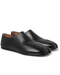 Maison Margiela Tabi Collapsible Heel Split Toe Leather Loafers
