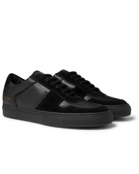 Common Projects Bball Full Grain Leather And Suede Sneakers