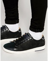 Ted Baker Borgeo Nubuck Leather Croc Sneakers