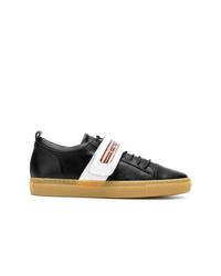 Lanvin Low Top Velcro Strap Sneakers