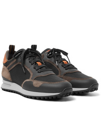 Dunhill Radial Runner Leather And Suede Trimmed Mesh Sneakers