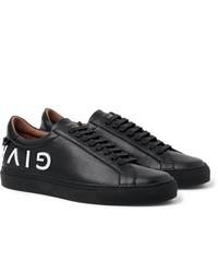 Givenchy Urban Street Logo Embossed Leather Sneakers