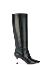 Valentino Garavani Mid Calf Boots With Screw Heel