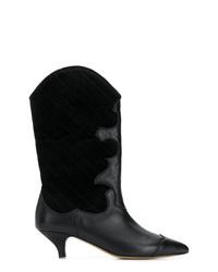 Ganni Heeled Texan Boots