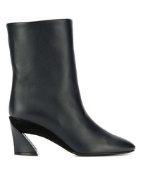 Salvatore Ferragamo Low Sculpted Heel Ankle Boots