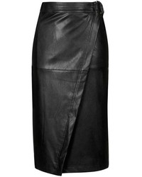 Topshop Faux Leather Wrap Skirt | Where to buy & how to wear