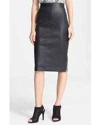 Lambskin leather pencil skirt medium 91537