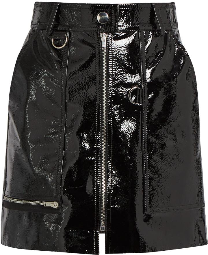 0252b93450 Isabel Marant Lynne Patent Leather Mini Skirt, £1,244 ...